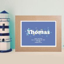 Boy's Name Artwork - Personalised Baby or Christening Gift
